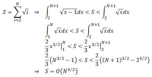 S=O(N^3/2)