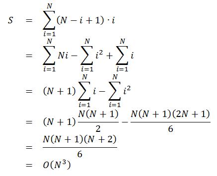 S=N(N+1)(N+2)/6