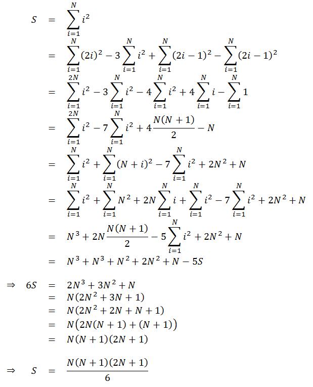 S=N(N+1)(2N+1)/6